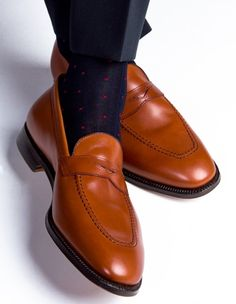 men's dot knee socks