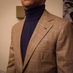 cashmere roll neck and sport coat Mens Fashion Blazer, Fashion Outfits, Men's Fashion, Mens Sport Coat, Sport Coats, Tweed Run, Blazers, Brown Suits, Casual Suit