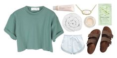 """""""Simple"""" by ashlyn91 on Polyvore featuring Kendra Scott, StyleNanda, American Apparel, Birkenstock, H&M, The Fine Bedding Company, Topshop, Aveda and AshlynsOutfitInspo"""