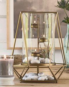 Bring earthy elegance to your home with the new Facet Hurricane. Order yours @ www.partylite.biz/cheryljackson