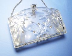 Vintage Lucite Purse Clear Plastic with by LorettasCache on Etsy