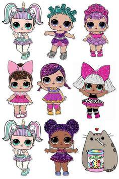 The centerpiece at this LOL Surprise Dolls birthday party i Baby Birthday, Birthday Parties, Lol Doll Cake, Chibi Kawaii, Leelah, Doll Party, Valentine Box, Lol Dolls, Paper Dolls