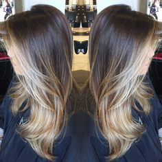 Ombre Hair Color, Hair Color Balayage, Brown Hair Colors, Hair Highlights, Ombre With Highlights, Highlights Around Face, Face Frame Highlights, Front Highlights, Blonde Color