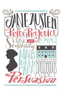 Books by Jane Austen. I've read Pride and Prejudice, and I'm reading Sense and Sensibility now! Emma is up next, but I'm going to read them all!!