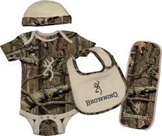 $24.99 Cabela's: Browning® Baby Infants' Four-Piece Camo Set