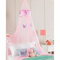 Childrens Girls Bed Canopy Mosquito Fly Netting Net 30x230cm   Pink  Butterfly Country Club Http://www.amazon.co.uk/dp/B00GQZ6OKI/refu003d ...
