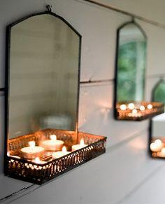 Espejo de pared con estante - Deco & Living