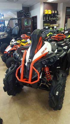 New 2017 Can-Am Renegade® X® mr 570 ATVs For Sale in Florida. The sport heritage of the Renegade built with mud features. Specifically designed to take on the toughest mud holes, the Renegade X mr 570 comes straight from the showroom with numerous factory installed accessories. Operational: - Steering: Tri-Mode Dynamic Power Steering (DPS) - Shocks: Front / Rear: FOX HPG