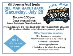 food truck festival photos | Del Mar Race Track Food Truck Fest Saturday July 28