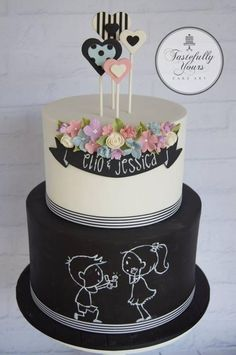 Will you marry me? by Marianne Bartuccelli : Tastefully Yours Cake Art (Facebook)