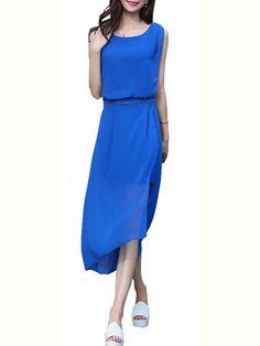 Slash Neck Plain Maxi-dresses Maxi Dresses from fashionmia.com