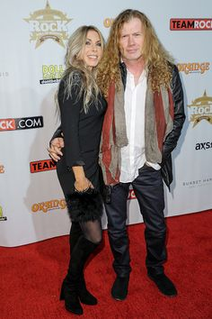 Dave Mustaine and wife Pamela Anne Casselberry attends the 10th Annual Classic Rock Awards at Avalon on November 4, 2014 in Hollywood, California