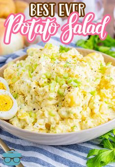 The Best Ever Potato Salad has a special ingredient that makes it the best! Potatoes, celery, onion, eggs and an amazing creamy dressing! Everyone will want this recipe! Banana Pudding Poke Cake, Best Banana Pudding, Best Ever Potato Salad, Cream Cheese Spreads, Country Cooking, Salad Recipes, Drink Recipes, Dinner Recipes, Side Dishes