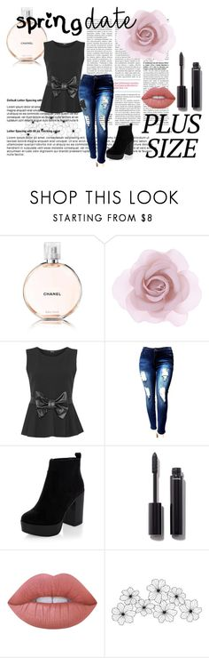 """""""plus sized babes"""" by devin-10 on Polyvore featuring Chanel, Accessorize, WearAll, Lime Crime and springdate"""