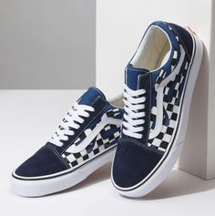 VANS vans men sneakers shoes Checkerboard Old Skool checkerboard old school blue topazblue blue (VN0A38G1QCM SS18)