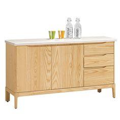 H&D  布洛克4.5尺石面餐櫃木質色澤,溫和耐看有質感 溫和色澤質感輕鬆搭配家中擺飾 採用木心板材質,穩固耐用,質感好 多元化收納功能,空間乾淨整潔不凌亂 整體穩重大方的造型,讓空間更加寬廣 專人送到府/簡易組裝