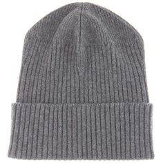 Stella McCartney Virgin Wool Beanie ($210) ❤ liked on Polyvore featuring accessories, hats, grey, hats/hair accessorie, grey beanie hat, beanie hat, grey hat, beanie cap hat and gray beanie
