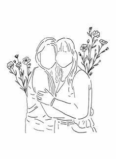 the twins. Line Drawing, Drawing Sketches, Art Drawings, Line Art, Buch Design, Donia, Dibujos Cute, Minimalist Art, Embroidery Patterns