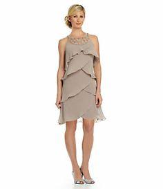 S.L. Fashions Tulip Tiered Dress fairy tale style romantic