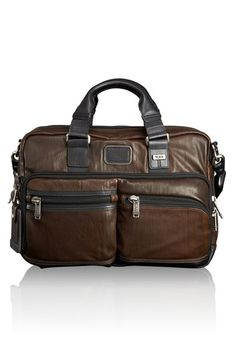 Tumi 'Bravo' Leather Commuter Briefcase available at #Nordstrom