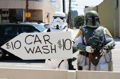 star wars females bare | DevilDinosaur: classic geek: The Star Wars Car Wash was not bad