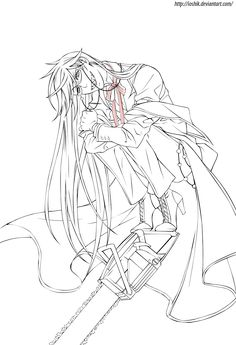 black butler coloring pages