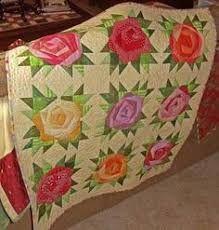 Resultado de imagem para rose quilt pinterest