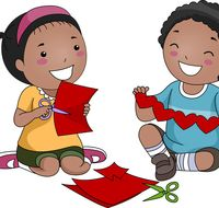"""Get inspired by cassandracoleman's work and save """"Children Making Art Clipart"""" for later. Art Clipart, Paper Hearts, Bowser, Children, Kids, Clip Art, Album, Stock Photos, Creative"""