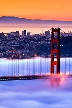 Low fog ~Sam Francisco, California.