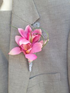Boutonniere,Orchid White Beach Boutonniere,Men's Lapel Pin,White Lapel pin,Beach Wedding Boutonniere,White boutonniere,pink prom boutonniere by BellasBloomStudio on Etsy