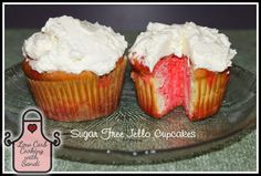 Low Carb Cooking with Sandi: Low Carb Sugar Free Jello Cupcakes