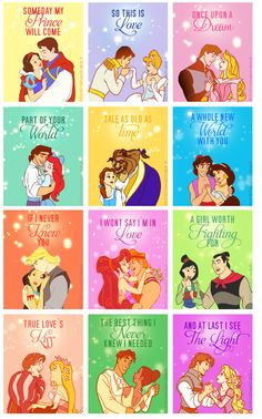 Disney princess poster - cute for little girls' room