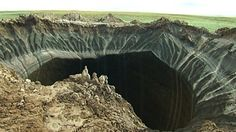 The cause of the giant craters (one is 30m wide and 50m deep) appearing in Siberia may have been found. It appears that global warming has been melting the permafrost that has formed after many millennia under temperatures reaching -140 degrees F. The disturbing occurrence has released methane gasses from beneath the earth which have belched up out of the newly, catastrophically thawed earth.