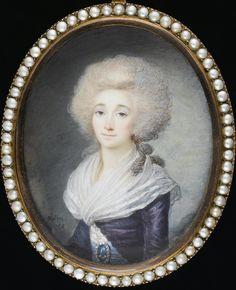 Elizabeth-Philippine-Marie-Helene de France, Madame Elisabeth, 1788 miniature by Maximilien Villers (Bonham's)