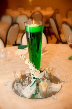 St. Patrick's Day Wedding Candles