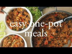 (2) 3 Easy One-Pot Dinners | Vegan, Quick and Healthy - YouTube