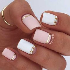 12-Gold Bridal Nail Designs