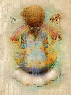 Once upon a rainbow - Karin Taylor illustration