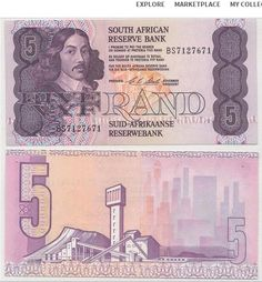 South Africa 2 Rand Blue, green, and brown.