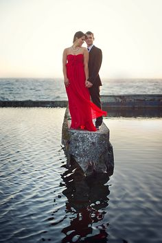 Gorgeous sunset engagement sessions photo in San Francisco by Adam Nyholt | via junebugweddings.com