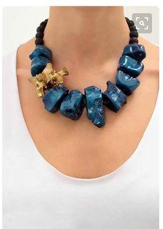 Chunky Jewelry, Statement Jewelry, Wire Jewelry, Jewelry Crafts, Jewelry Art, Gemstone Jewelry, Beaded Jewelry, Jewelery, Jewelry Necklaces