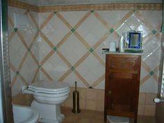 Glazed terracotta wall for a real Italian old fashioned bathroom Terracotta, Glaze, Tiles, Bathroom, Wall, Enamel, Room Tiles, Washroom, Tile