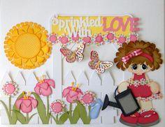 Sprinkled With Love Girl Paper Piecing Set PreMade Album Scrapbooks Borders