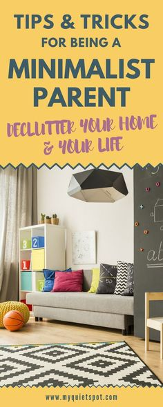 Want to try living minimalist lifestyle with kids in the house? Even though it can be a hard task to declutter with young children living in the house it is possible. These declutter simple tips and guides will help you make space for happiness in your ho
