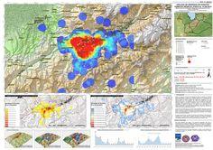 Mapa de análisis de densidad de eventos sísmicos en el municipio Sucre, Mérida Venezuela, 2015