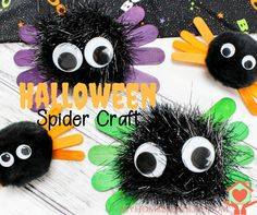 Very easy and quick Halloween Craft for kids. Halloween Spider Kids Craft.