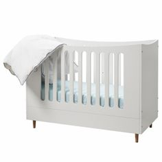 Babybett / Gitterbett VIVIEN, 70x140cm, umbaubar zum Juniorbett WEIß