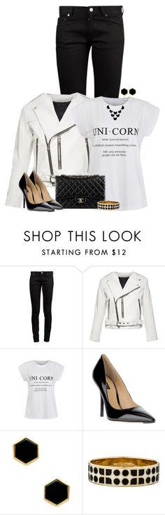 """""""Black & White"""" by angelysty ❤ liked on Polyvore featuring Yves Saint Laurent, Marc Jacobs, Ally Fashion, Chanel, Dolce&Gabbana, Mallary Marks, Kate Spade and Avenue"""