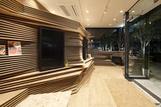 Shun Shoku Lounge. Location: Osaka, Osaka Prefecture, Japan; architects: Kengo Kuma & Associates; photo: Courtesy of Kengo Kuma & Associates; year: 2013