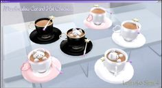 Marshmallow Cat and Hot Chocolate at Lolineko Sims4 • Sims 4 Updates